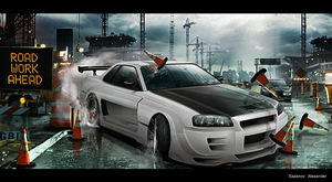 Nissan Skyline R34 by AS001