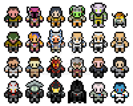 Pixel Star wars Rebels Sprites by mudkat101