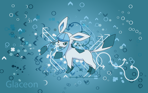 Glaceon Desktop Background by KirkButler
