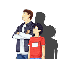 Dastiel and Unnamed Little Bro by Renny08