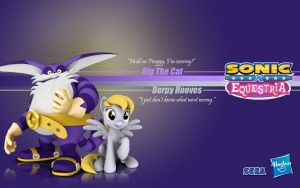 Sonic X Equestria: Big and Derpy by Fuzon-S