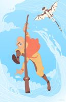 Aang Cloud Bending by ArchaicEphony