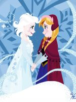 Disney Frozen: Anna and Elsa by gissele365