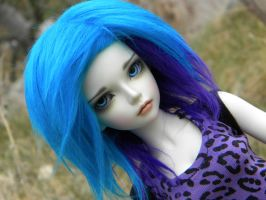 purple leopard by octoberdolls