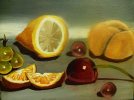 Fruit Still Life Practice... by Artzy-chick