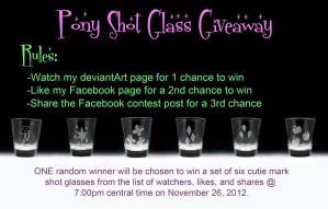 CONTEST OVER!! - Pony Shot Glass Giveaway by Yukizeal