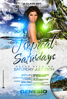 Tropical Saturdays Flyer by DeityDesignz