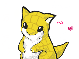 sandshrew by A-wild-vic-appears