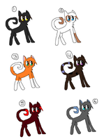 Cat Adoptables by DawnPancakes