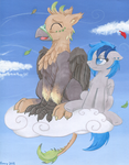 Commission - Ralek Blue Sky by TwilightFlopple