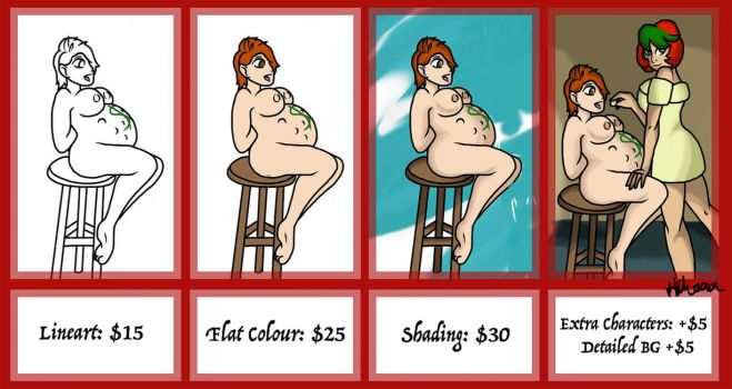 Commission Price Guide by Hikusaa