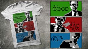 The good, the bad and the ugly t-shirt design by usmelllikedogbuns
