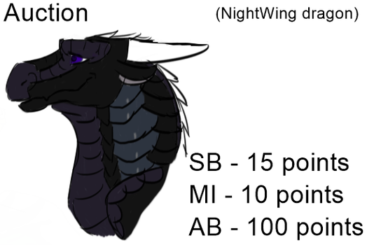 (SOLD) Cheap NightWing Auction by AurorasAdoptables