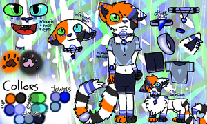 Sapphireheart ref by Blueheart-the-cat