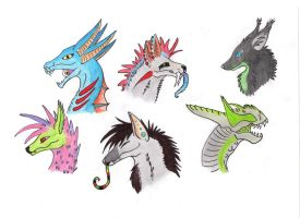 .:AT:. head shots c: by Catdragons