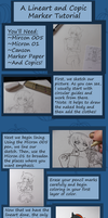 Simple Lineart and Copic Tutorial by Noace