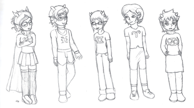 Homestuck genderbends by cartunegirl56