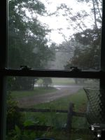 Rain Outside the Window by SeaGoatInk