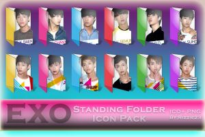 EXO Standing Folder Icon Pack by Rizzie23