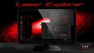 Laser Expoler Theme For Windows 7 by Designfjotten by Designfjotten