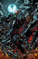 Spawn battle piece by DigitalCutti