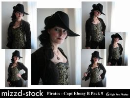 Pirates - Captain Ebony Black Portrait Pack 9 by mizzd-stock