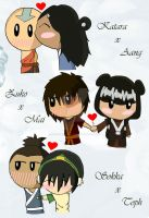 Avatar Chibi Couples by StereotypicallyAsian