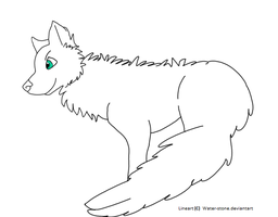 .free wolf lineart by Water-Stone