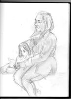 Woman and daughter on the train by jaiquanfayson