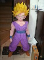 Dragon Ball - Gohan 91 -TEEN GOHAN SSJ2 PAPERCRAFT by songohanart