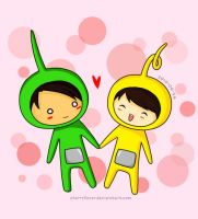 teletubbies: dispy and laa-laa by cherryfever