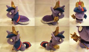 Princess Twilight and Twicane Chibi Plushie by Bunnygirl2190