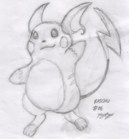 Yingpingu - Pencil'd Raichu by Yingpingu