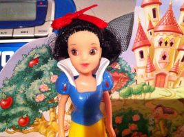 Dancing Snow White Doll (close up of her face) by SweetHea