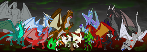 Dragonkin Group Pic by Skyder117