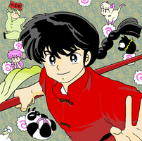 Ranma and His Peers by larksgar