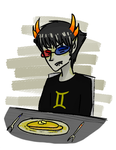 In which Sollux eats a pancake by SeiraAxis002
