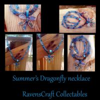 Summer's Dragonfly pendant by WyckedDreamsDesigns