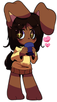 Chibi Chocolate Bunny by QueenAshi
