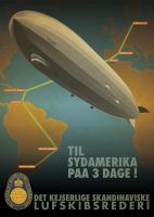 Airship Poster by Regicollis