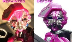 Movie Arcee face repaint by Unicron9