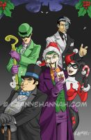 Batman Villains Colors by stratosmacca