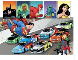 Justice League-NASCAR 12 by TimLevins
