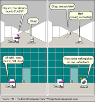 *.Icons webcomic no. 4 - The End of Computer Puns? by Wrim