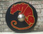 Barbarian Round shield (Cat) by Kthco