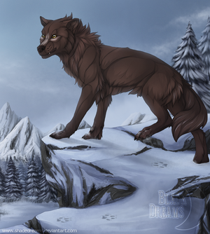 The snowy mountain - Commission by Nereiix