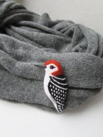Woodpecker Brooch by mar-rie