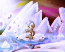 Pokemon Piplup - Speed Paint by MarcSantana