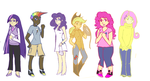 Human Ponies by JessicaBlood