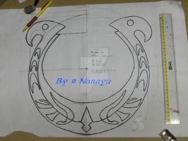 zelda Skyward Sword Goddess's lyre template by Narayu
